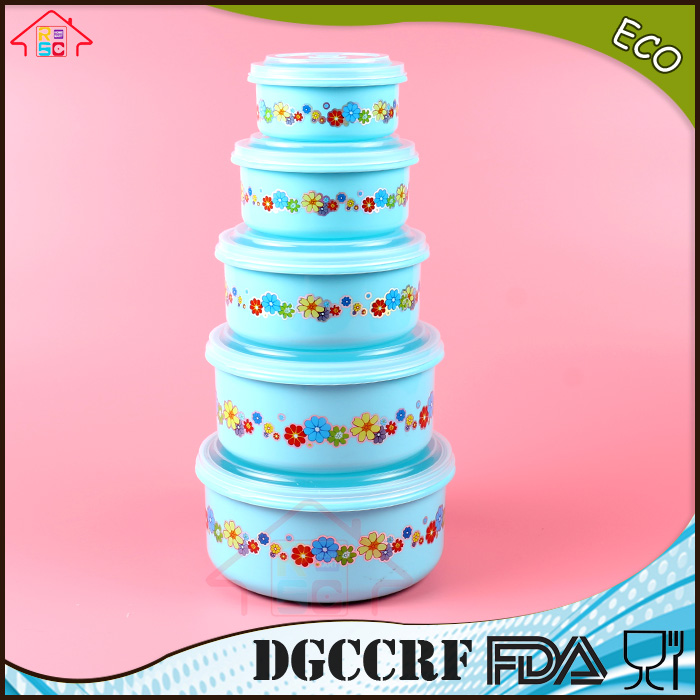 set of 5 plastic microwave food container set stackable food storage box