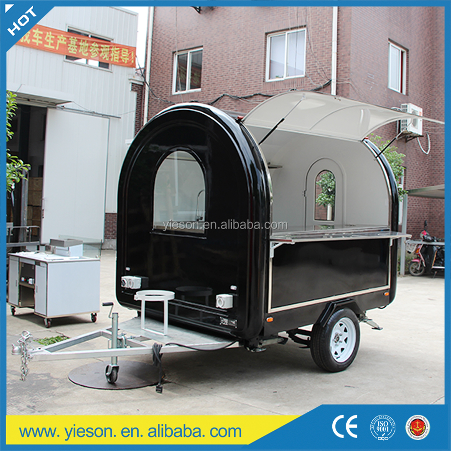 New-Type outdoor towable fast food cart & van , mobile kitchen catering trucks
