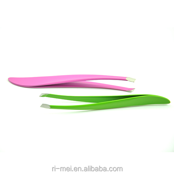 Customized Curves Shape High Quality Stainless Steel Eyebrow Tweezers
