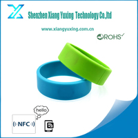 low cost custom nfc bracelet silicone / PVC / paper with ntag213 / ultralight / tk4100 / em4305