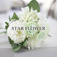 2017 New Product SF2017225 artificial peony flower bonsai flowers artificial wedding garland flowers for B2B