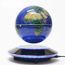 Best Business gift High quality gold/blue 8 inch big rotating magnetic levitation globe