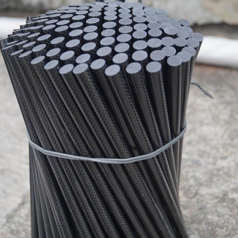 Light weight durable rod made from carbon fiber