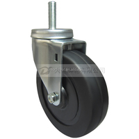 5 inch bolt type furniture caster wheel with rubber