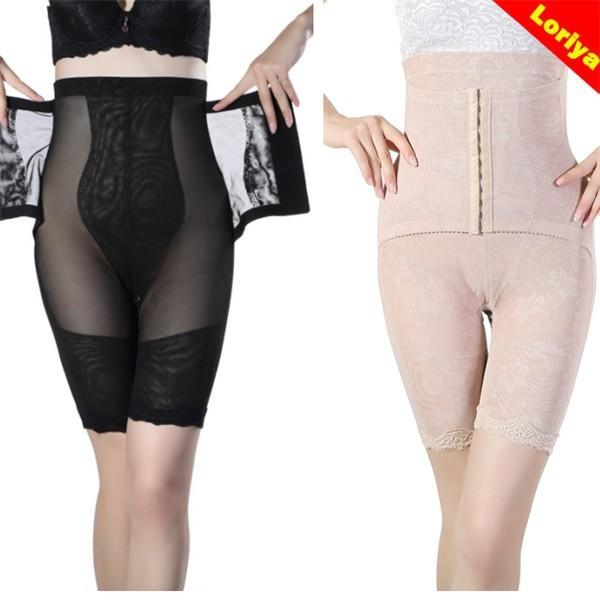High Waist 3 Hooks Black Nude Strength Postpartum Recover Women's Body Shaper Slimming Pants