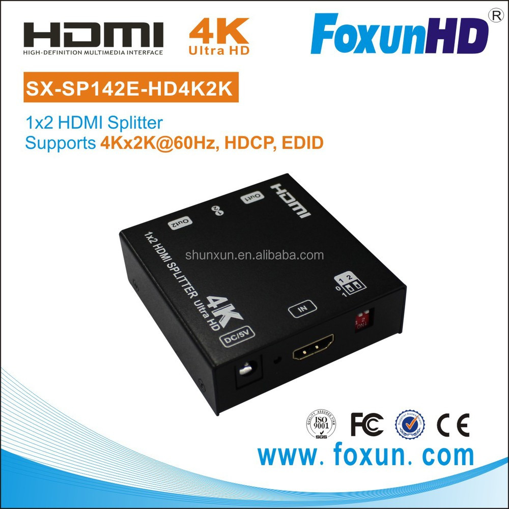 4Kx2K@60hz 1x2 HDMI Audio and Video Distribution amplifier with EDID