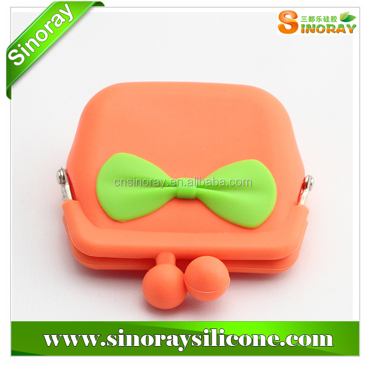 Nice portable candy color silicone coin purse
