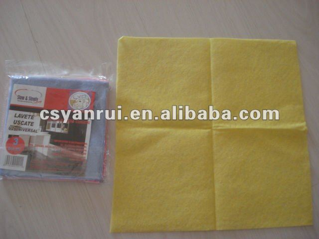 Viscose and poliester universal dry cloth