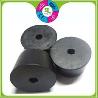 Custom black NBR plug furniture anti-slip rubber stopper with hole