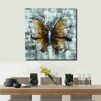 Abstract wall art canvas oil painting Butterfly animal oil painting