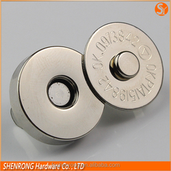 Metal clothing labels purse clasp magnetic button 10mm 12mm 14mm 18mm