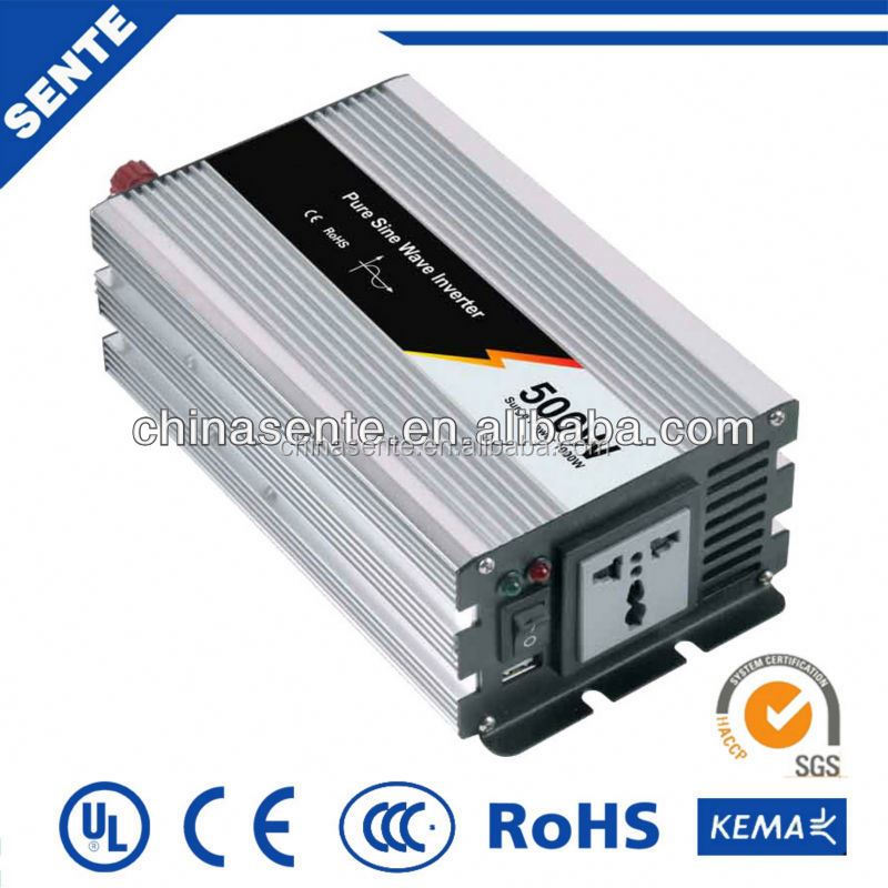 China factory 500w power inverter inductive load 12vdc to 220vac with battery charger