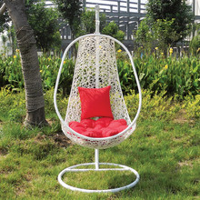 Outdoor garden rattan Swing egg hanging chair
