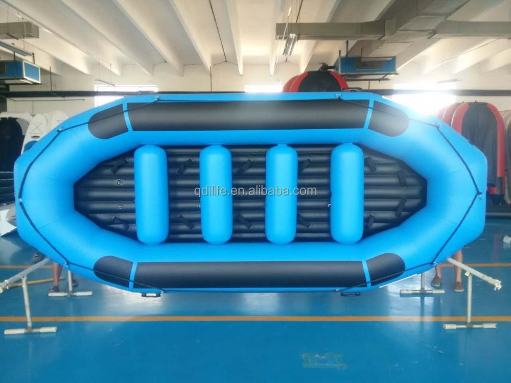 2016 PVC& Hypalon inflatable fishing rod raft / drifting boat for sale
