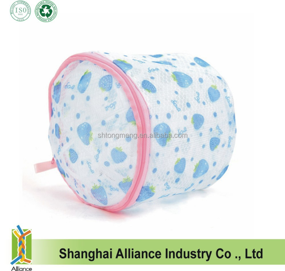 Full Color Strawberry Overall Printing Bra Towel Underwear Washing Net Laundry Bag