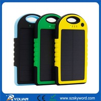 5000mah for smartphone with mini led flashlight Phone solar charger