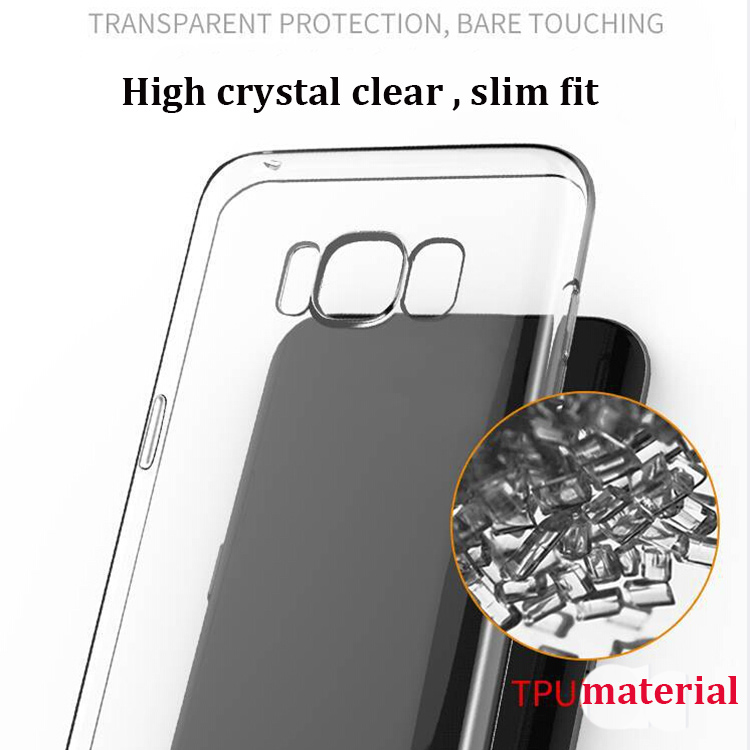 Hot product ultra thin clear Cover case for Samsung galaxy s8, for samsung galaxy s8 back cover