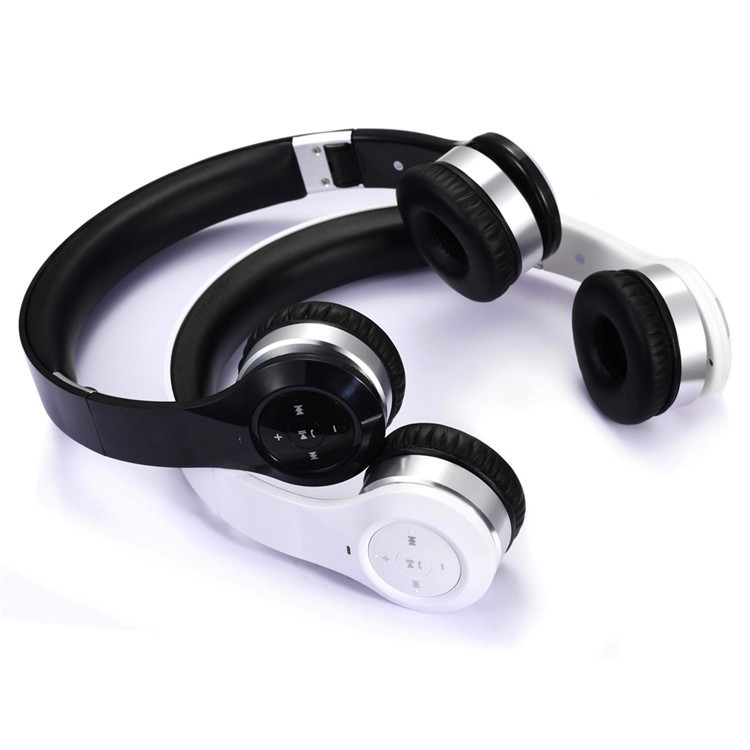 Flexible headband comfortable leather cushion wireless bluetooth stereo headset with mic