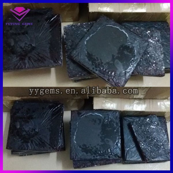 China best quality glass stone rough factory price black diamonds uncut