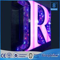 light up letters stainless steel diy led backlit channel letter