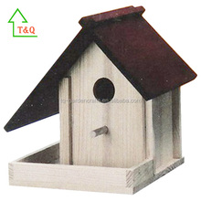Cheap Hot selling Creative DIY natural wooden wild bird house