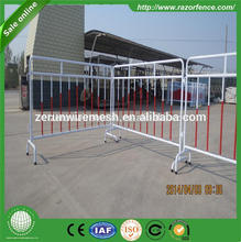 ZERUN expandable mobile barrier fence expandable rolling gates folding metal barrier
