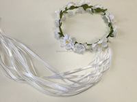 Custom bridal daisy flower crown headband