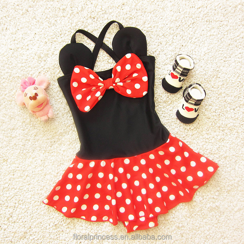 2017 Summer New Style Children Swimsuit Tights Cute And Comfortable Baby Girl Swimsuit Swimming Cap Gift For Child Baby
