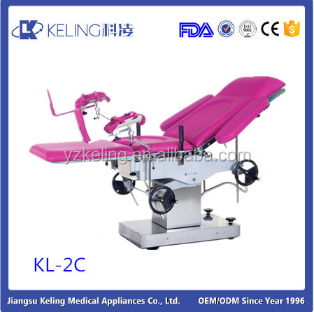 KL-2C Hign Quality Top MANUAL Gynecological Operating Table