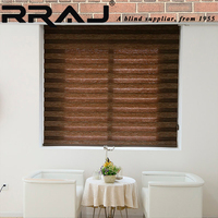RRAJ Fabric motorized Zebra roller shade Blinds with Parts