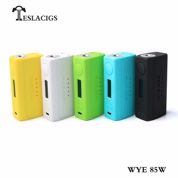 2018 Tesla new products WYE 85w vape box mod with compact shape and preeminent inherent