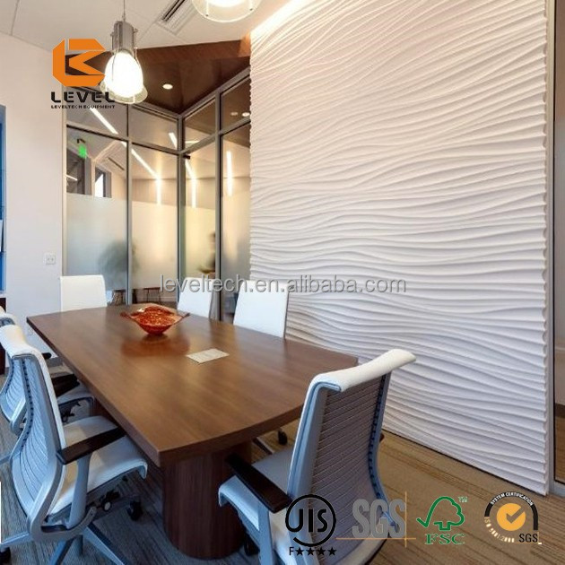 2015 Hot Sale Leveltech Luxury beautiful pattern 3D Wall decoration MDF board