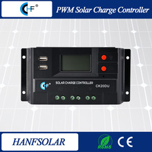 4 stage intelligent pwm 12V 24V 20A solar charger controller