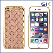 [GGIT] Fashion Electroplating Checkered Sheepskin Design TPU Phone Case For IPhone 6 Back Cover