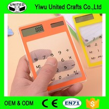 Funny Mini Cute student transparent Solar Scientific Calculator