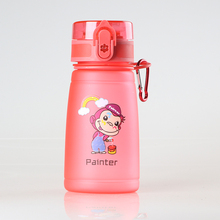 Kangzhiyuan BPA Free Eco-Friendly Plastic Juice School Children Kids Drinking Water Bottle With Straw