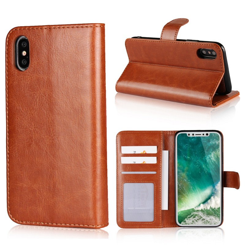 iCoverCase 2 in 1 Detachable Phone Case Magnetic Wallet Leather TPU Cover For iPhone 6 6S 7 8 Plus X XR XS Max