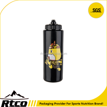RTCO New Styles Designs black custom squeeze water bottle