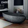 Artistic Solid oval marble bathtub for hotel or modern home