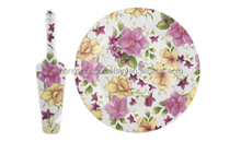 Wedding Products Fashionable cake plate and server set