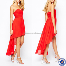 sweetheart neckline off shoulder short front long back red chiffon overlay fashion prom dress