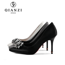 D124 Ladies grey black and white dress shoes high heel made in china