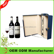 2016 Chinese imports high quantily custom leather wine carrier