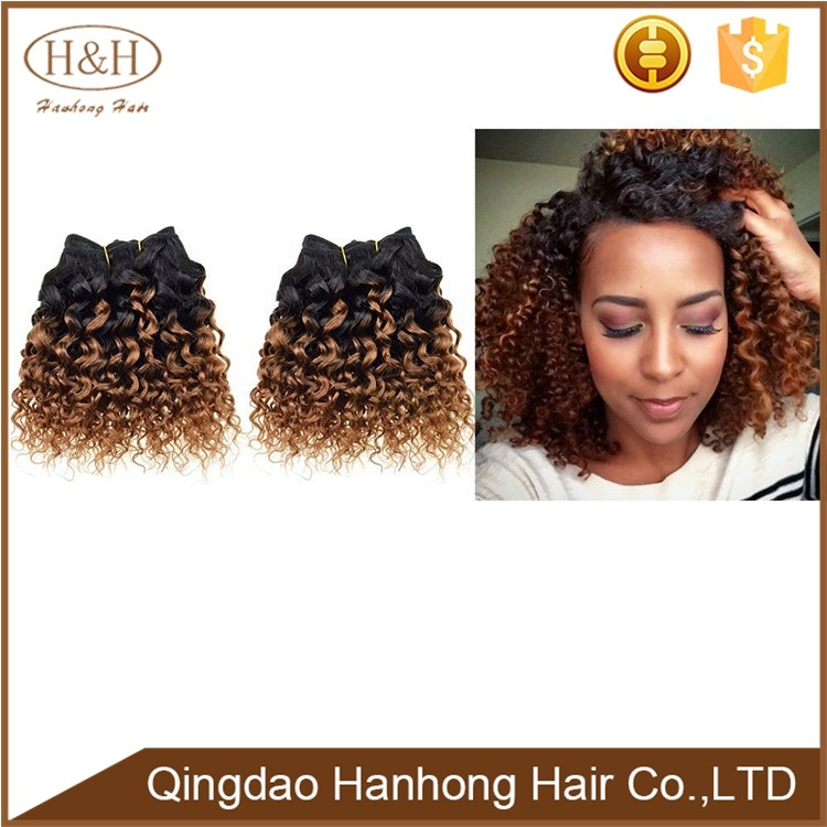 wholesale brazilian afro kinky curly virgin hair ombre weave extension for black women