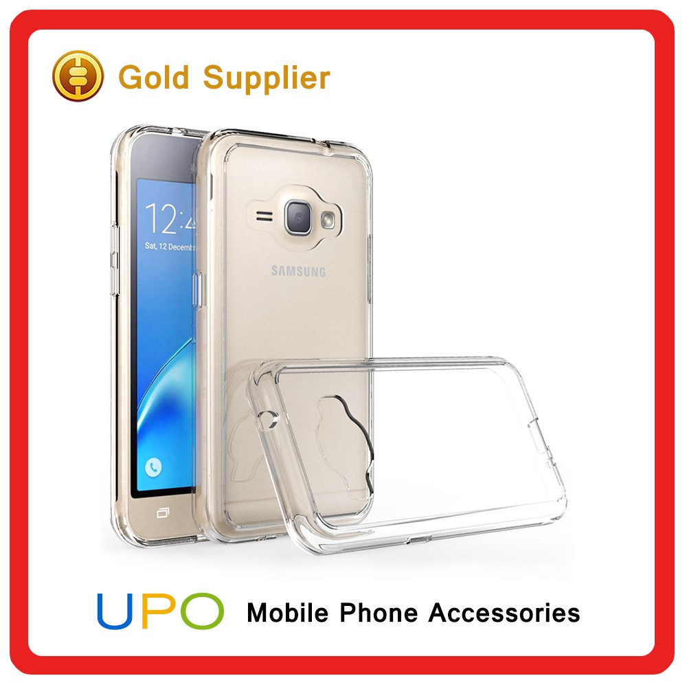 [UPO] 2016 Unique Clear Hard Plastic PC Transparent TPU Mobile Phone Case for Samsung Galaxy J120 J1 2016