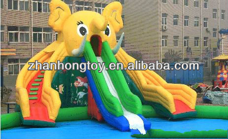 2013 new design amusement park inflatable water slide for sale