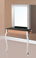 2015 new single sides stainless steel hair salon styling mirror station : CHM-23