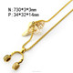 New Fashion Gold Headphone Design Pendant Stainless Steel Necklace Jewelry n001672