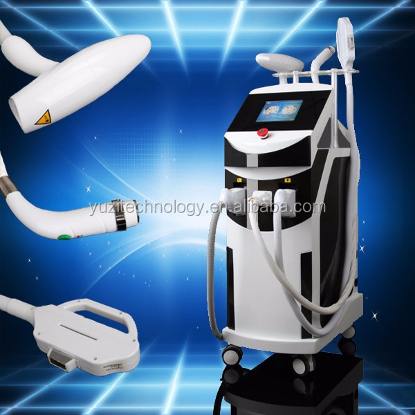 Beauty salon and spa use shr laser two handles ipl shr opt portable hair removalmachine/ipl device