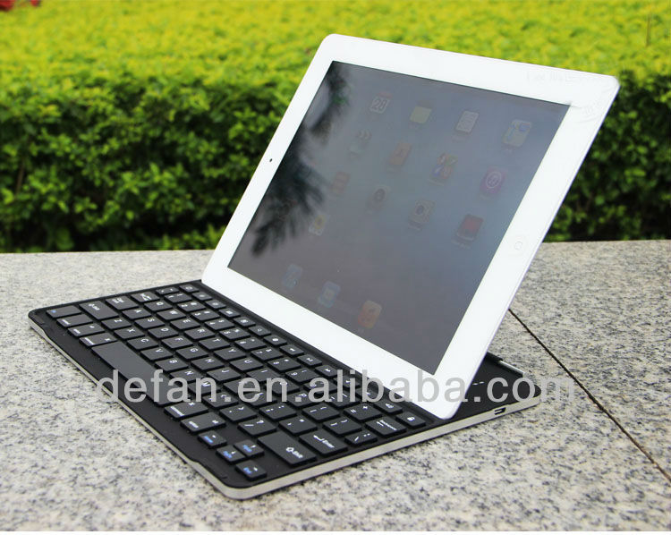 Aluminum Bluetooth Wireless Keyboard Case for ipad2/3/4